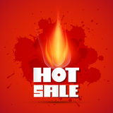Vector Hot Sale Title In Flames Stock Photography