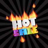 Vector Hot Sale Title In Flames Royalty Free Stock Photo