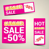 Vector hot summer sale sticker . Summer sale banner or label Royalty Free Stock Image