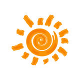 Vector hot sun icon. Isolated on white background. Royalty Free Stock Photo