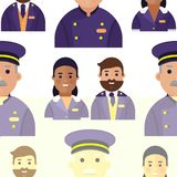 Vector hotel workers personal professional service man and woman job uniform objects hostel manager illustration. Seamless pattern. Receptionist travel tourism Royalty Free Stock Photo