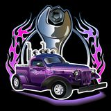 Vector hotrod Royalty Free Stock Image