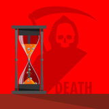 Vector hourglass casts and death Stock Images