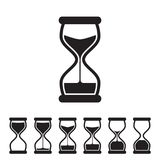 Vector Hourglass Collection. Black and White Vector Hourglass Collection. Sand Clocks for Sprite Sheet Animation. Vintage Hourglass Timer Sand as Countdown Royalty Free Stock Image