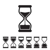 Vector Hourglass Collection. Black and White Vector Hourglass Collection. Sand Clocks for Sprite Sheet Animation. Vintage Hourglass Timer Sand as Countdown Royalty Free Stock Photography