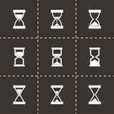 Vector hourglass icon set Royalty Free Stock Photography
