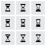 Vector hourglass icon set Royalty Free Stock Images
