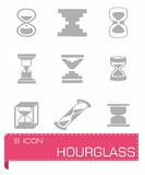 Vector Hourglass icon set Stock Photo