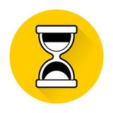 Vector hourglass icon. Simple flat Vector hourglass icon stock illustration