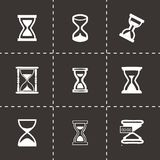 Vector hourglass icons set Stock Photo