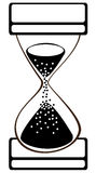 Vector hourglass on white Royalty Free Stock Photo