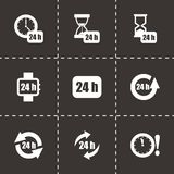 Vector 24 hours icon set Stock Photos