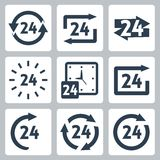 Vector '24 hours' icons set Stock Image