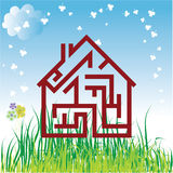 Vector house Royalty Free Stock Images