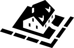 Vector house. A drawing of a little house Stock Images
