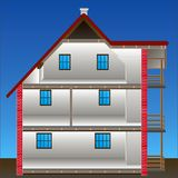 Vector house stock illustration