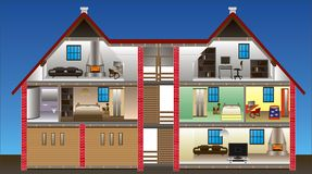 Vector house Stock Image