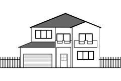 Vector house drawing Royalty Free Stock Photo