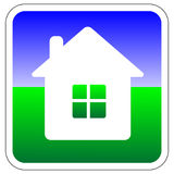 Vector house icon / button Royalty Free Stock Photo