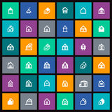 Vector house icon. Set of  house icon Royalty Free Stock Photography