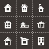 Vector house icon set Royalty Free Stock Image