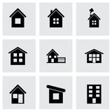Vector house icon set Royalty Free Stock Photo