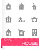 Vector house icon set Stock Photos