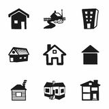Vector house icon set Royalty Free Stock Images