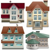 Vector House Icons Royalty Free Stock Photo