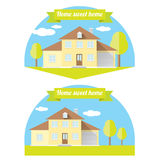 Vector house illustration. home sweet home Stock Photography