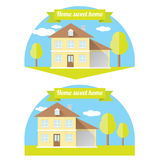 Vector house illustration. home sweet home Royalty Free Stock Images