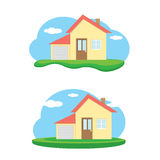 Vector house illustration. home sweet home Royalty Free Stock Photos