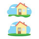 Vector house illustration. home sweet home Stock Photo