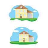 Vector house illustration. home sweet home Stock Photos