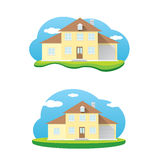 Vector house illustration. home sweet home Royalty Free Stock Image