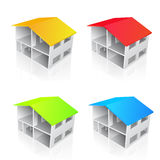 Vector house illustrations Royalty Free Stock Photo