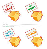 Vector house project. Vector set real estate project Royalty Free Stock Photography