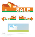 Vector house project. Vector set real estate project Stock Photo