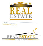Vector house project3. Two variants of the house-real estate design Royalty Free Stock Image