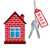 Vector house, sale House Stock Image