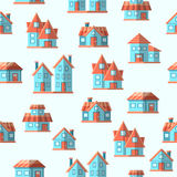 Vector house seamless pattern background Stock Image