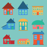 Vector house set Royalty Free Stock Images