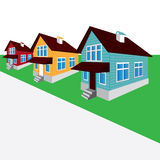 Vector house, the street, the cottage Royalty Free Stock Image
