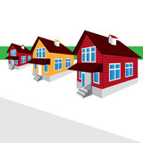 Vector house, the street, the cottage Stock Photo