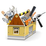 Vector House Toolbox Stock Photos