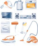 Vector household appliances icons Stock Image