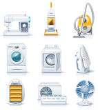 Vector household appliances icons. Part 4 Royalty Free Stock Images