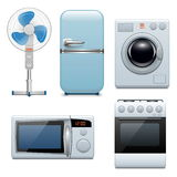 Vector household appliances icons. On white background Stock Images