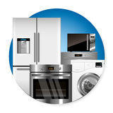 Vector household appliances Royalty Free Stock Image