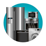 Vector household appliances Royalty Free Stock Images
